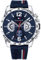 Tommy Hilfiger Men's Decker Navy Silicone Strap Watch 46mm, Created for Macy's