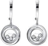 Chopard 839216-1001 18K White Gold & 0.30ct Diamond Happy Emotions Earrings