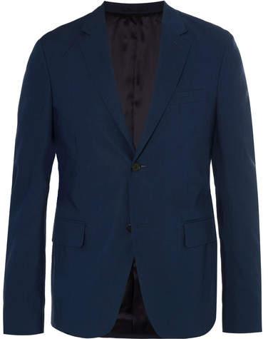Prada Navy Slim-Fit Cotton-Poplin Suit Jacket
