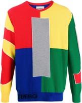 Iceberg rainbow intarsia jumper