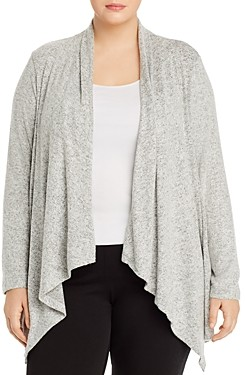 Bobeau B Collection By Curvy B Collection by Curvy Ami Open Waterfall Cardigan
