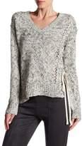 Dex V-Neck Asymmetrical Lace-Up Sweater