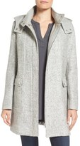 Kenneth Cole New York Women's Hooded Boucle Coat