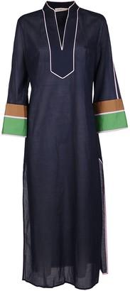 Tory Burch Colour-Block Maxi Caftan Dress