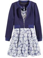 Beautees 2-Pc. Bomber Jacket & Skater Dress Set, Big Girls (7-16)