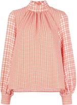 Stine Goya plaid-print blouse