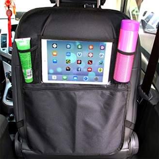 Local Makes A Comeback Car Seat Back Storage Bag, Multi-Function Storage Bag with Net Pocket, PVC Film, Oxford Fabric, Black