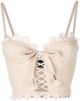 Puma scalloped hem corset top - women - Nylon/Spandex/Elastane/Viscose - XS