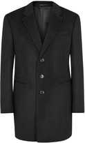 Armani Collezioni Anthracite Wool And Cashmere Blend Coat