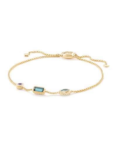 David Yurman Novella 18k Chain Bracelet, Multicolor