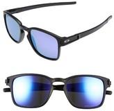 Oakley Women's Latch 52Mm Polarized Rectangular Sunglasses - Matte Black/ Prizm Polar