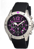 Breed Black & Purple Sergeant Chronograph Watch