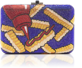Judith Leiber Couture Crinkle Cut Slim Side Clutch