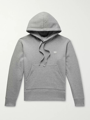 Acne Studios Ferris Logo-Appliqued Melange Fleece-Back Cotton-Jersey Hoodie