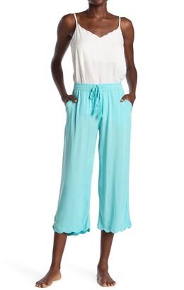 PJ Salvage Sun Vibes Scalloped Hem Cropped Pants