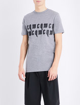 McQ by Alexander McQueen Embroidered brand logo cotton-jersey t-shirt