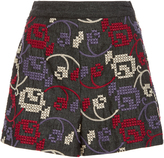 Anna Sui Embroidered Denim Short