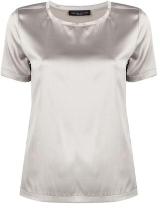 Fabiana Filippi round neck silk T-shirt