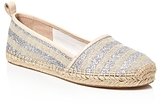 Kate Spade Lilliad Glitter Stripe Espadrille Flats