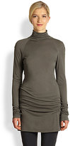 Donna Karan Double-Layer Turtleneck Tunic