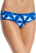 MICHAEL Michael Kors Shirred-Side Printed Swim Bottom