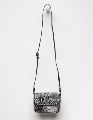 Faux Snakeskin Crossbody Bag