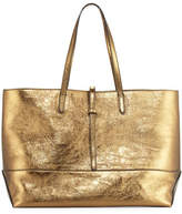 Tomas Maier Aged Metallic Leather Tote Bag, Brown/Multi