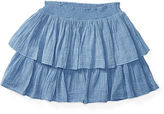 Ralph Lauren Cotton Gauze Pull-On Skirt