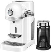 KitchenAid Nespresso Machine + Aeroccino Frosted Pearl