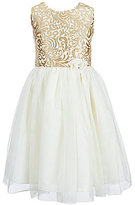 Jayne Copeland Big Girls 7-12 Brocade Mesh-Skirt Dress