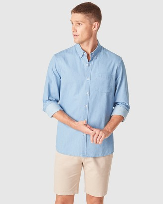French Connection Men's Casual shirts - Chambray Regular Fit Shirt - Size One Size, XS at The Iconic