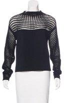 Helmut Lang Open Knit Rib Knit Sweater