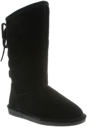 BearPaw Cold Weather Boots BLACK - Black Phylly Youth Suede Boot - Kids