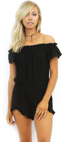 West Coast Wardrobe Melly Off the Shoulder Romper in Black