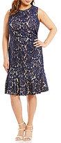 Eliza J Plus Sleeveless Peplum Dress