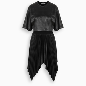 Givenchy Black pleated lacquered dress