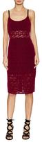 ABS by Allen Schwartz Lace Sheer Midriff Sheath Dress