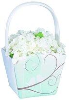 Lillian Rose Tiffany Blue Flower Girl Basket with Birds
