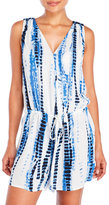 Hawaiian Tropic Tie-Dye Drawstring Cover-Up Romper