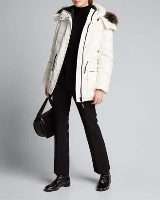 Yves Salomon Army By Reversible Fox Fur-Trim Hooded Down Coat