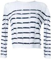 Alexander Wang burn out striped jumper - women - Lambs Wool - XS