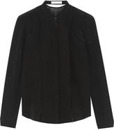 Dion Lee Cutout silk crepe de chine and chiffon blouse