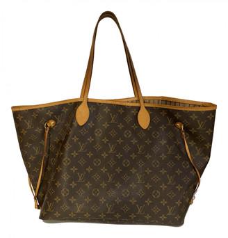 Louis Vuitton Neverfull Brown Leather Handbags