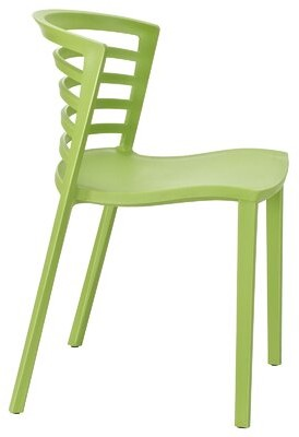 Equinox Ladder Back Stacking Side Chair Hashtag Home Color: Green
