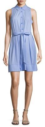 Milly Sleeveless Pleated Shirt Dress