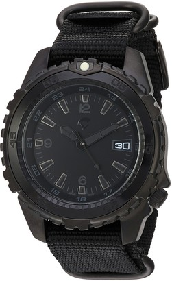 Momentum Men's Deep 6 Vision Stainless Steel Japanese-Quartz Diving Watch with Nylon Strap