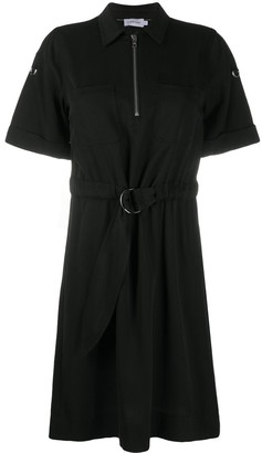 Calvin Klein Zipped Belted Shirt Dress