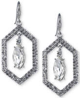 Carolee Silver-Tone Crystal Openwork Drop Earrings