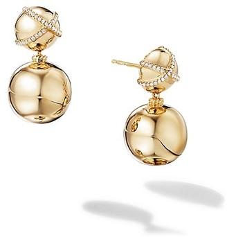 David Yurman Solari Double Drop Earring with Diamonds in 18K Yellow Gold