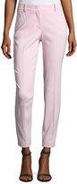 Emilio Pucci Mid-Rise Slim-Leg Pants, Pink
